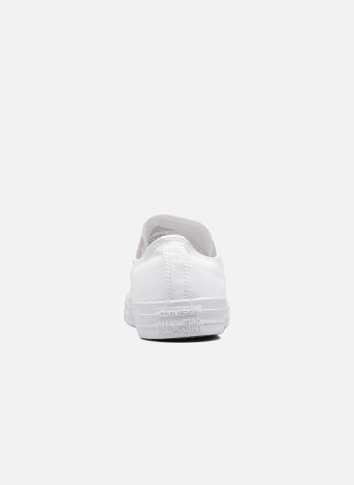 Sneakers Converse Chuck Taylor All Star Monochrome Canvas Ox M Bianco immagine destra