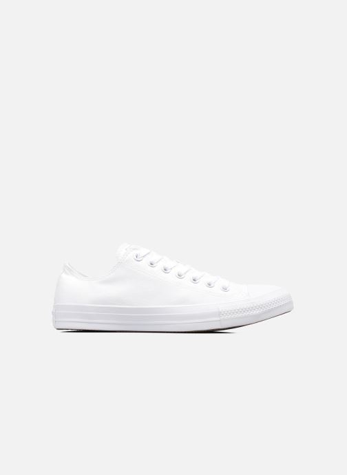Baskets Converse Chuck Taylor All Star Monochrome Canvas Ox M Blanc vue derrière