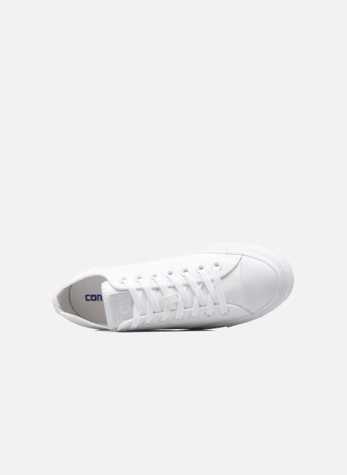 Baskets Converse Chuck Taylor All Star Monochrome Canvas Ox M Blanc vue gauche