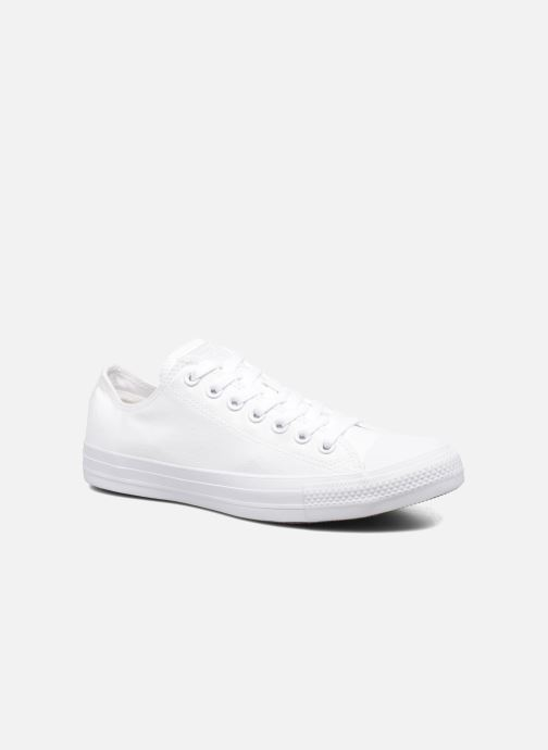 Baskets Converse Chuck Taylor All Star Monochrome Canvas Ox M Blanc vue détail/paire