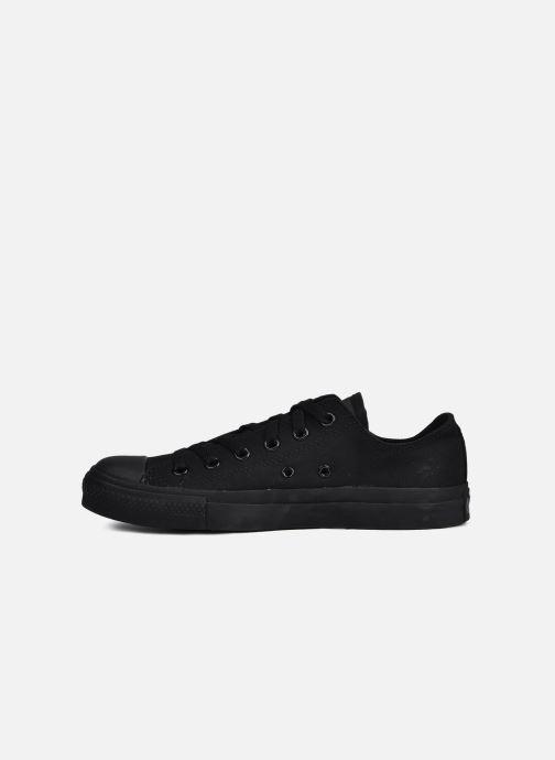 Sneakers Converse Chuck Taylor All Star Monochrome Canvas Ox M Nero immagine frontale