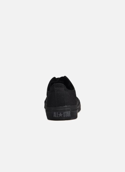 Sneaker Converse Chuck Taylor All Star Monochrome Canvas Ox M schwarz ansicht von rechts