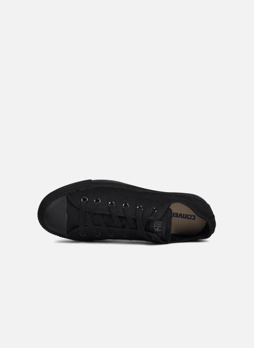 Sneaker Converse Chuck Taylor All Star Monochrome Canvas Ox M schwarz ansicht von links