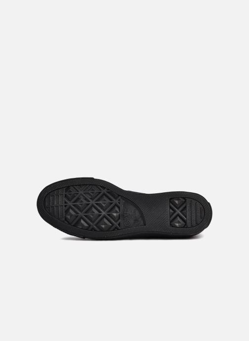 Sneaker Converse Chuck Taylor All Star Monochrome Canvas Ox M schwarz ansicht von oben