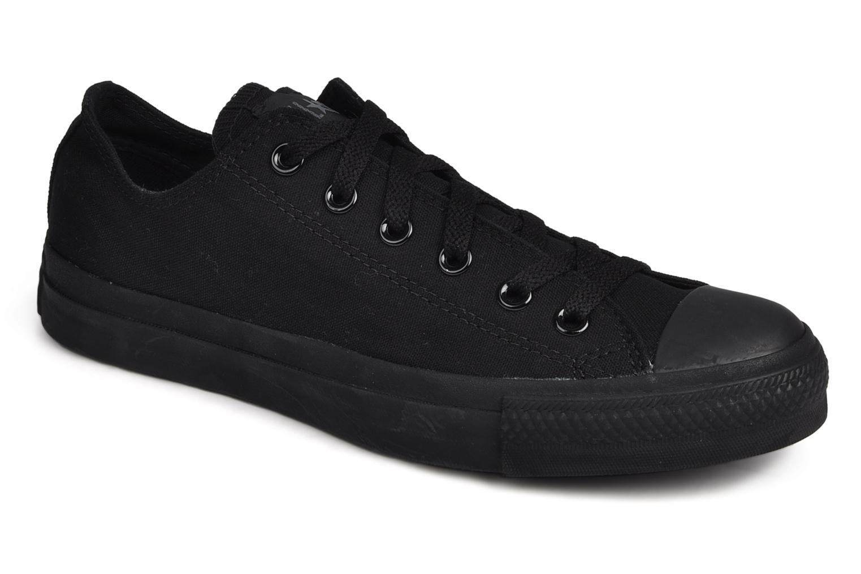 Sneakers Converse Chuck Taylor All Star Monochrome Canvas Ox M Sort detaljeret billede af skoene