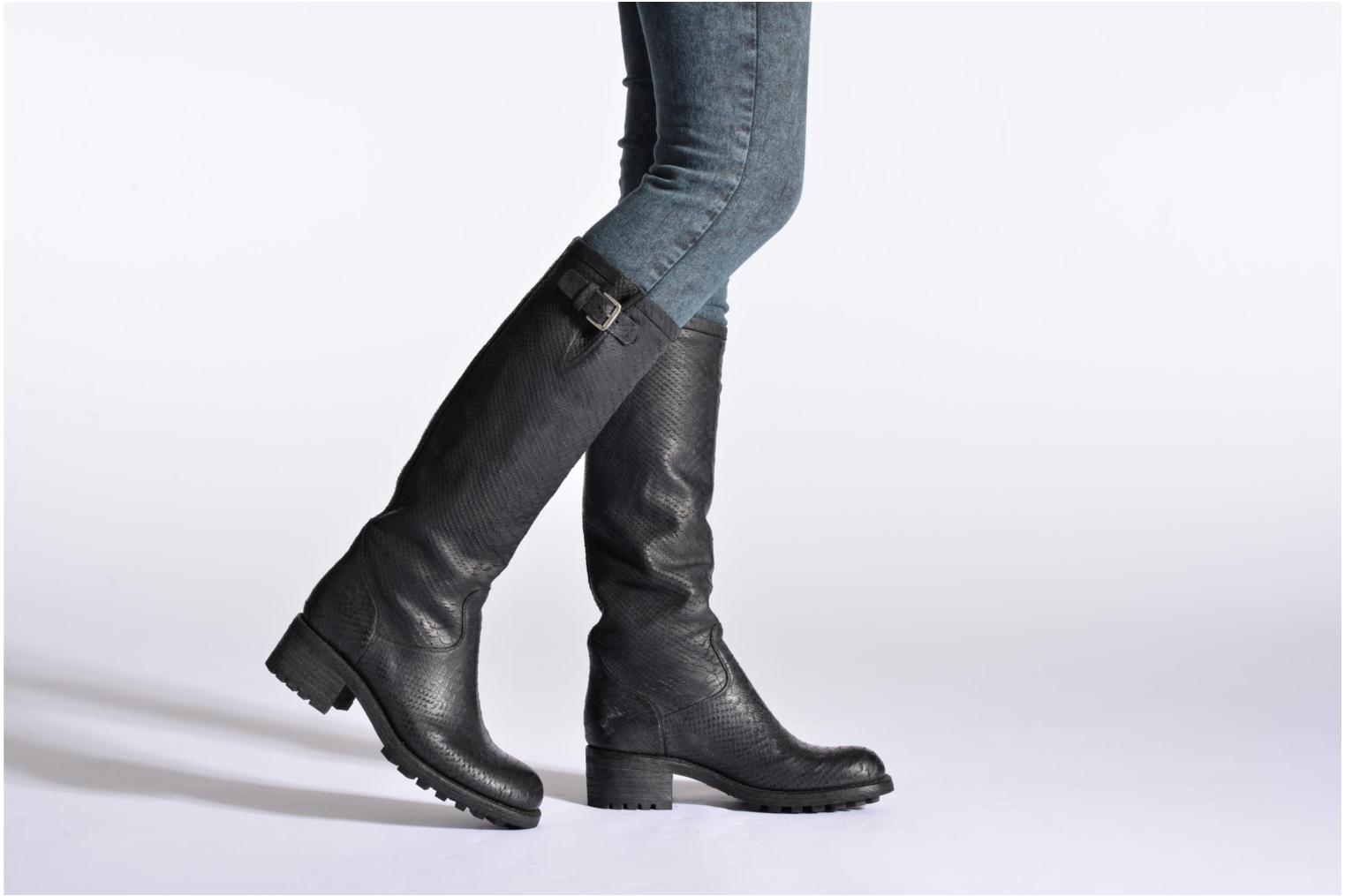 Boots & wellies Free Lance Biker 4 Geronimo Black view from underneath / model view