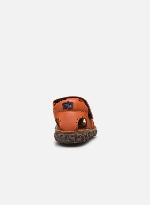 Sandales et nu-pieds Stones and Bones Raxi Orange vue droite
