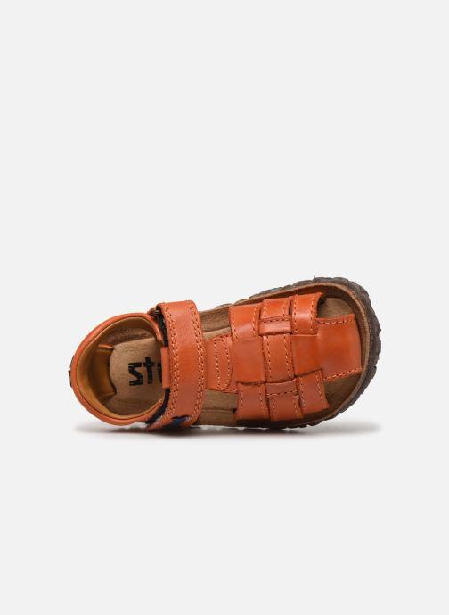 Sandales et nu-pieds Stones and Bones Raxi Orange vue gauche