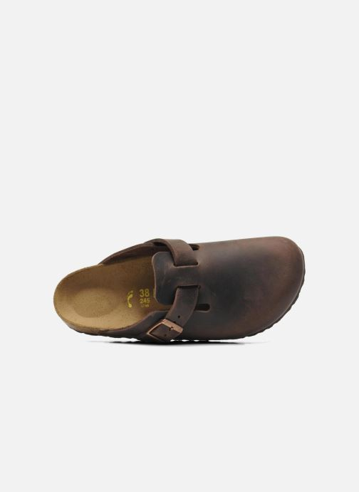 Clogs & Pantoletten Birkenstock Boston Cuir W braun ansicht von links