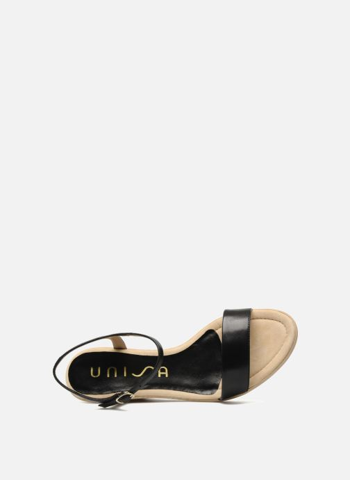 Sandales et nu-pieds Unisa Rita Noir vue gauche