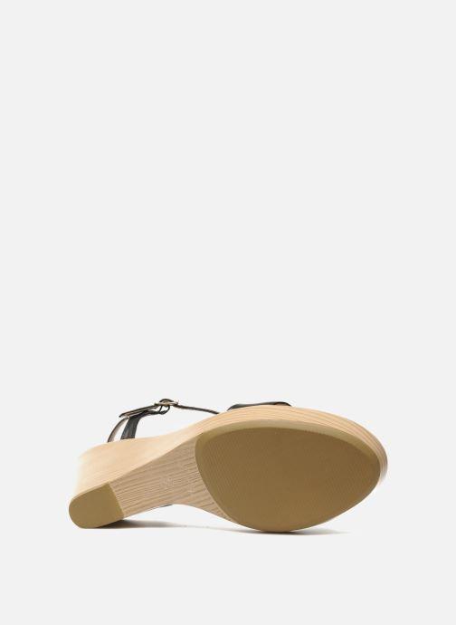 Sandales et nu-pieds Unisa Rita Noir vue haut