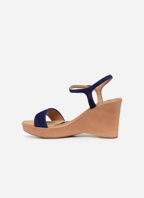 Sandales et nu-pieds Unisa Rita Bleu vue face