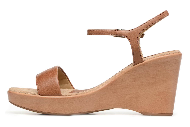 Sandals Unisa Rita Brown front view