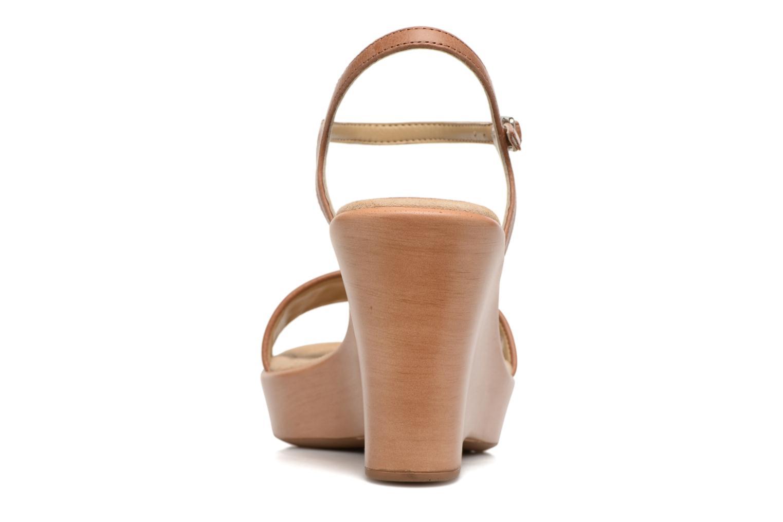 Sandales et nu-pieds Unisa Rita Marron vue droite