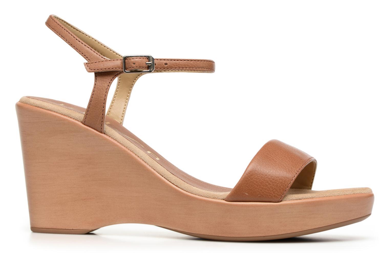 Sandales et nu-pieds Unisa Rita Marron vue derrière