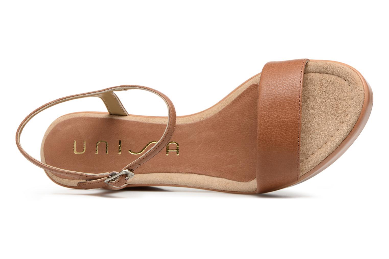 Sandales et nu-pieds Unisa Rita Marron vue gauche