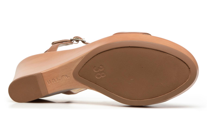 Sandales et nu-pieds Unisa Rita Marron vue haut