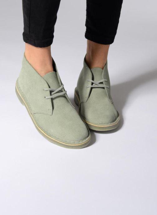 Zapatos con cordones Clarks Desert Boot W Negro vista de abajo