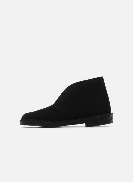 Zapatos con cordones Clarks Desert Boot W Negro vista de frente