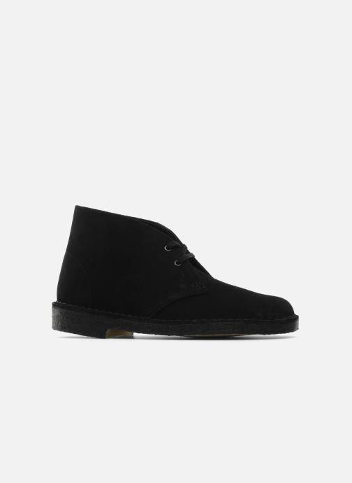 Zapatos con cordones Clarks Desert Boot W Negro vistra trasera