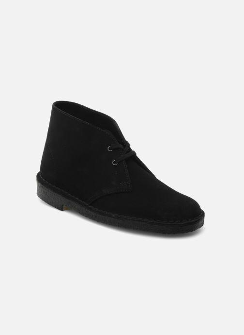 Zapatos con cordones Clarks Desert Boot W Negro vista de detalle / par