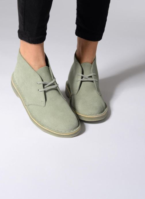 Lace-up shoes Clarks Desert Boot W Brown view from underneath / model view