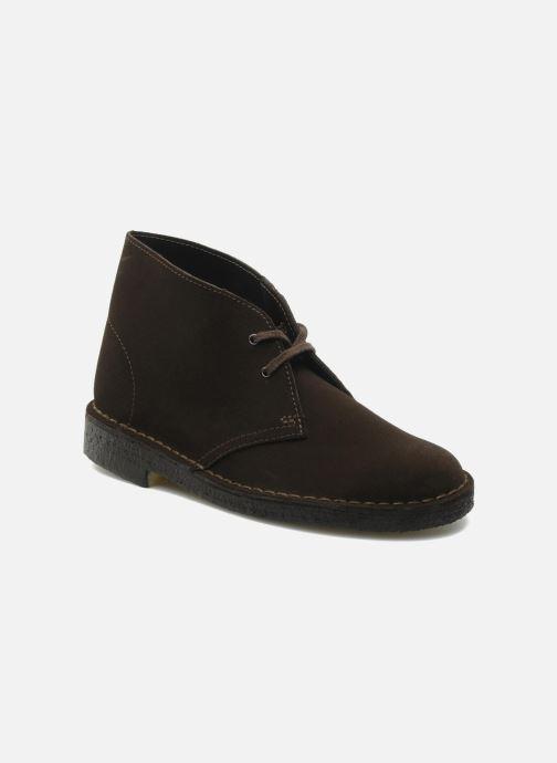 Snøresko Clarks Desert Boot W Brun detaljeret billede af skoene