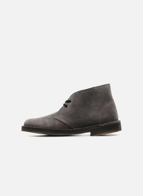 Zapatos con cordones Clarks Desert Boot W Gris vista de frente