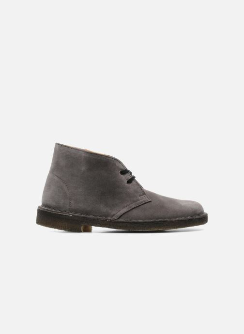 Lace-up shoes Clarks Desert Boot W Grey back view
