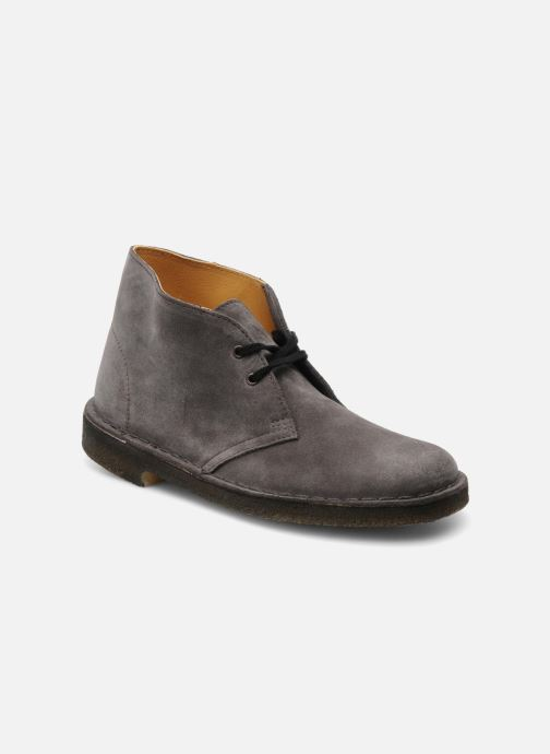 Lace-up shoes Clarks Desert Boot W Grey detailed view/ Pair view