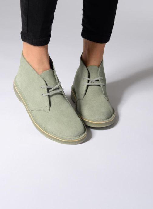 Chaussures à lacets Clarks Desert Boot W Marron vue bas / vue portée sac