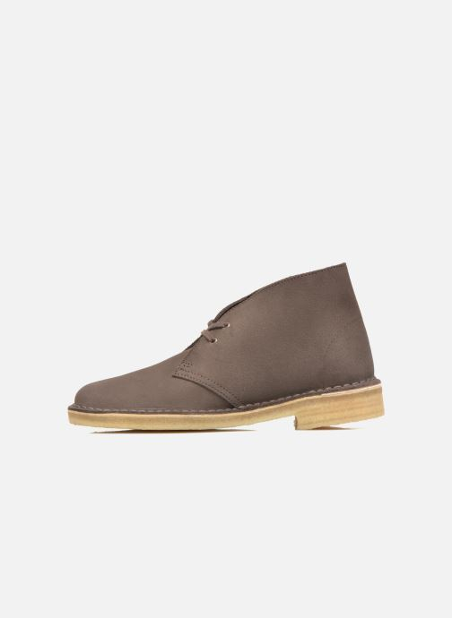 Lace-up shoes Clarks Desert Boot W Brown front view