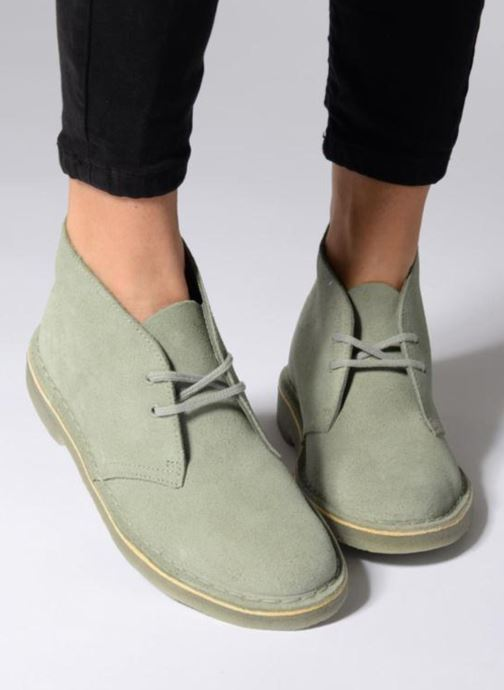 Lace-up shoes Clarks Desert Boot W Blue view from underneath / model view
