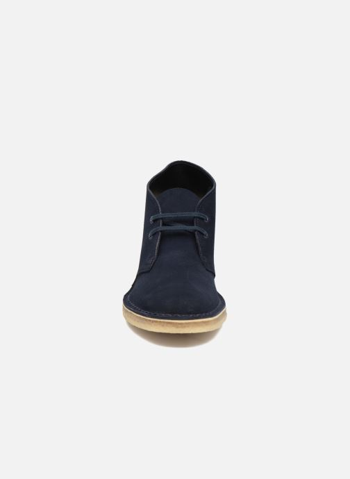 Lace-up shoes Clarks Desert Boot W Blue model view