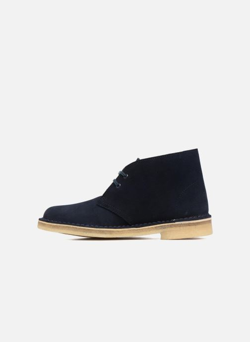 Lace-up shoes Clarks Desert Boot W Blue front view