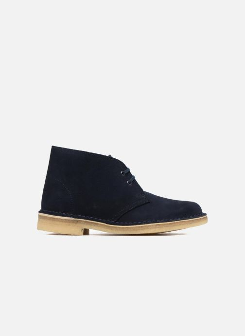 Lace-up shoes Clarks Desert Boot W Blue back view