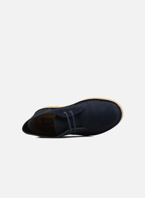 Zapatos con cordones Clarks Desert Boot W Azul vista lateral izquierda