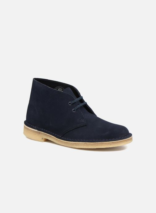 Lace-up shoes Clarks Desert Boot W Blue detailed view/ Pair view