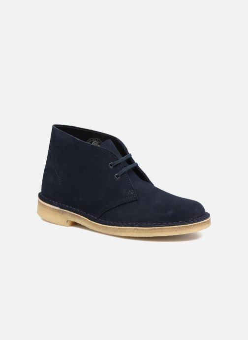 Snøresko Clarks Desert Boot W Blå detaljeret billede af skoene