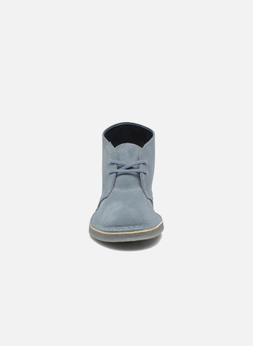 Chaussures À Boot Desert Blue Grey W Clarks Lacets TKlJ1Fc