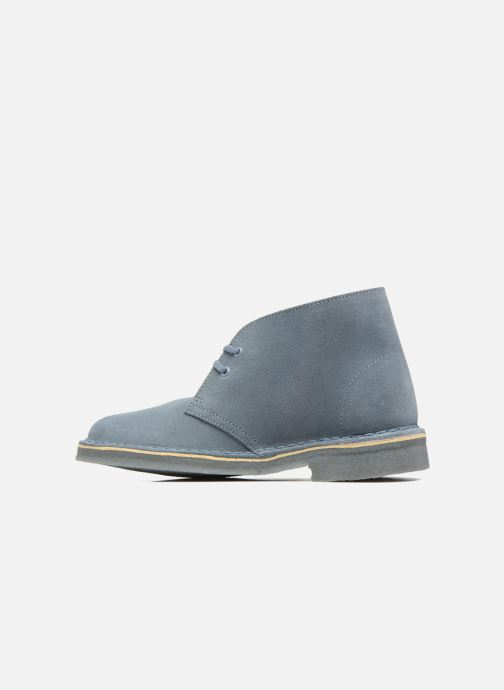 Zapatos con cordones Clarks Desert Boot W Azul vista de frente