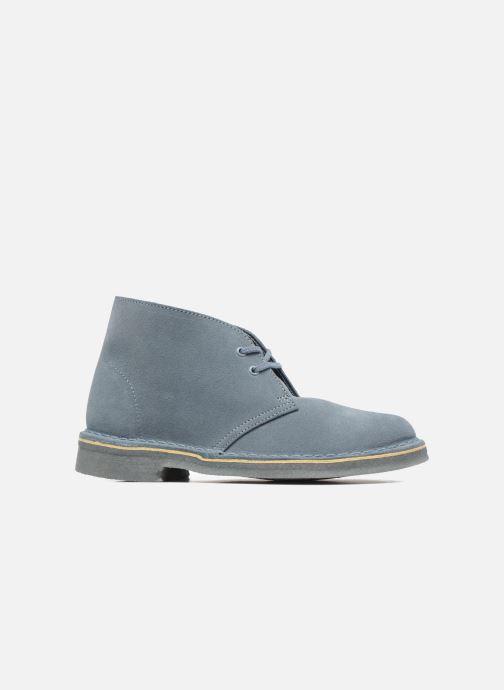 Chaussures à lacets Clarks Desert Boot W Bleu vue derrière