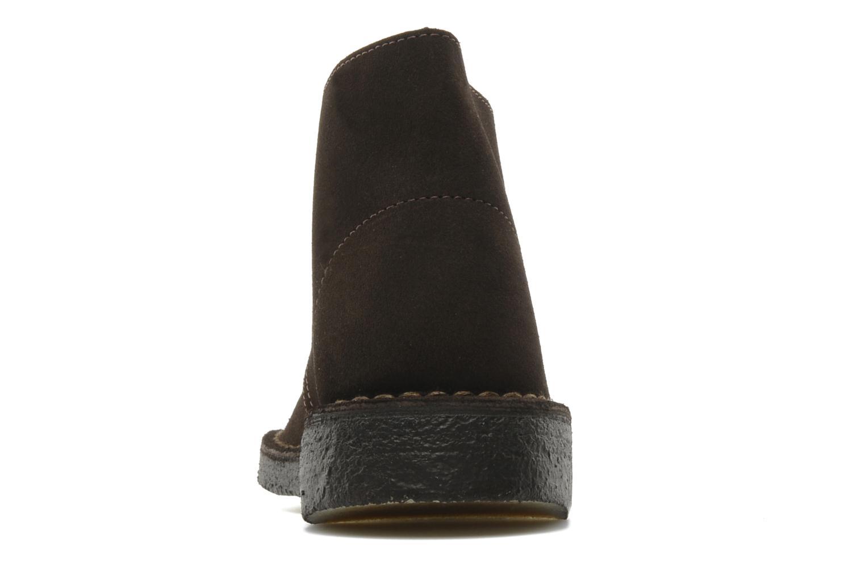 Chaussures à lacets Clarks Desert Boot W Marron vue droite