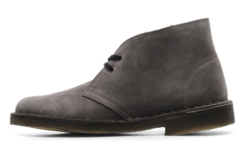 Chaussures à lacets Clarks Desert Boot W Gris vue face
