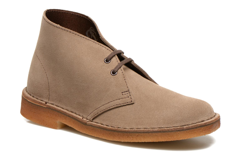 Snøresko Clarks Desert Boot W Beige detaljeret billede af skoene