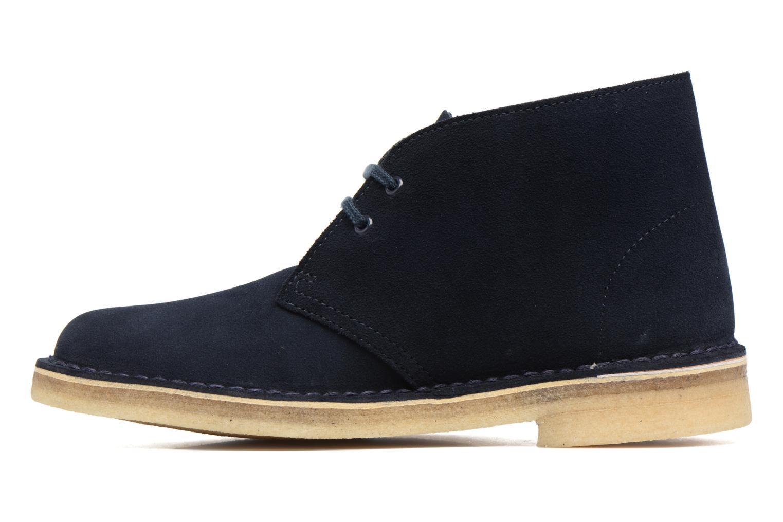 Chaussures à lacets Clarks Desert Boot W Bleu vue face