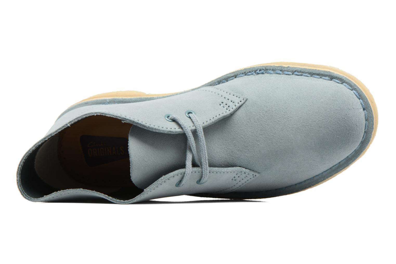Chaussures à lacets Clarks Desert Boot W Bleu vue gauche