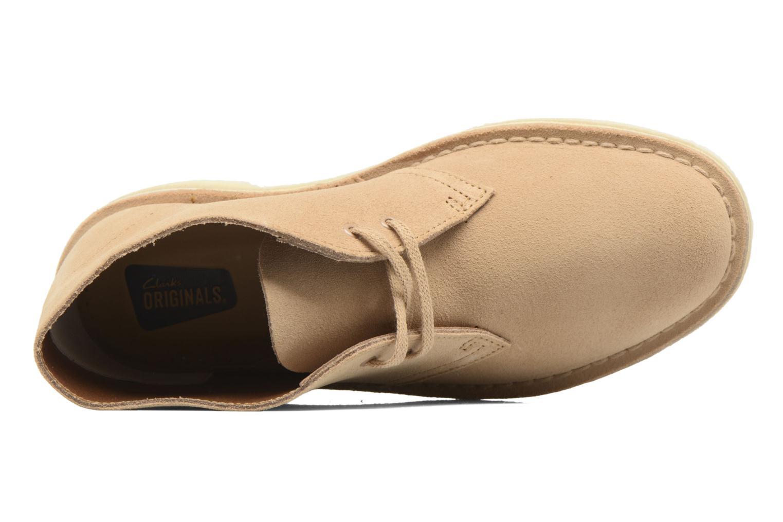 Chaussures à lacets Clarks Desert Boot W Marron vue gauche