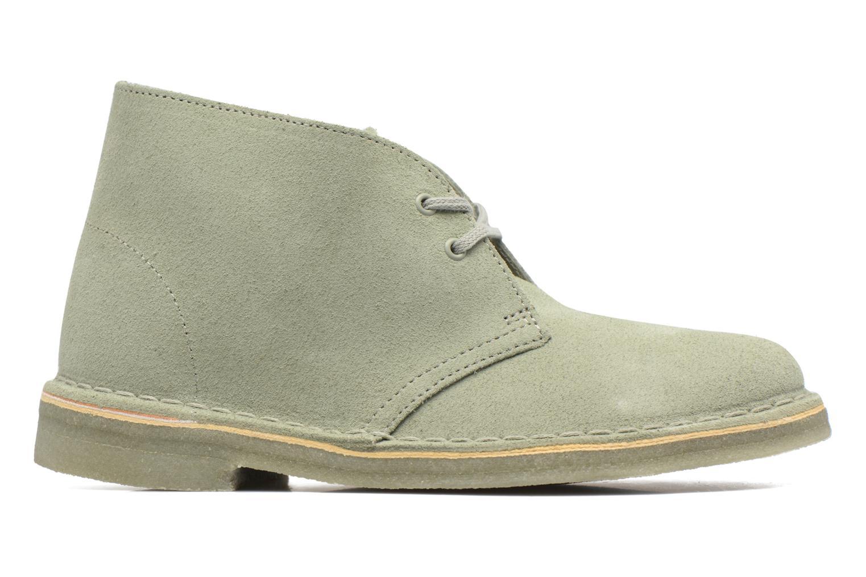 Chaussures à lacets Clarks Desert Boot W Vert vue derrière