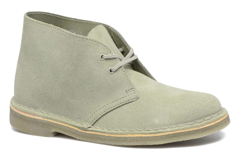 Chaussures à lacets Clarks Desert Boot W Vert vue détail/paire